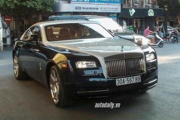 Chạm mặt Rolls-Royce Wraith biển 56789 tại Hà Nội