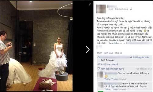 váy cưới, chồng tây, chồng Việt, cư xử