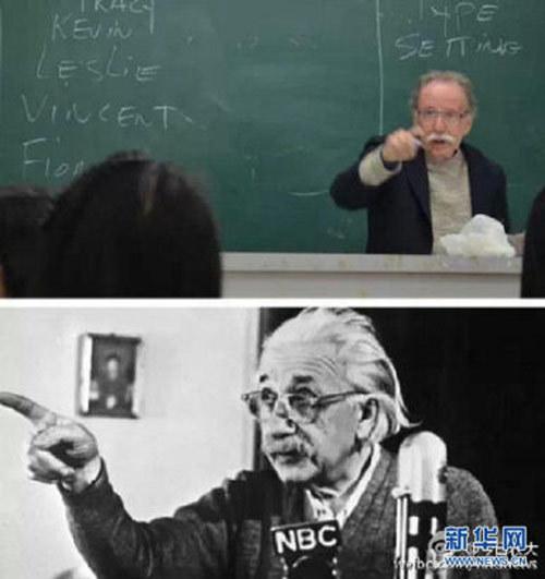 Einstein, giáo sư,  ngoại hình