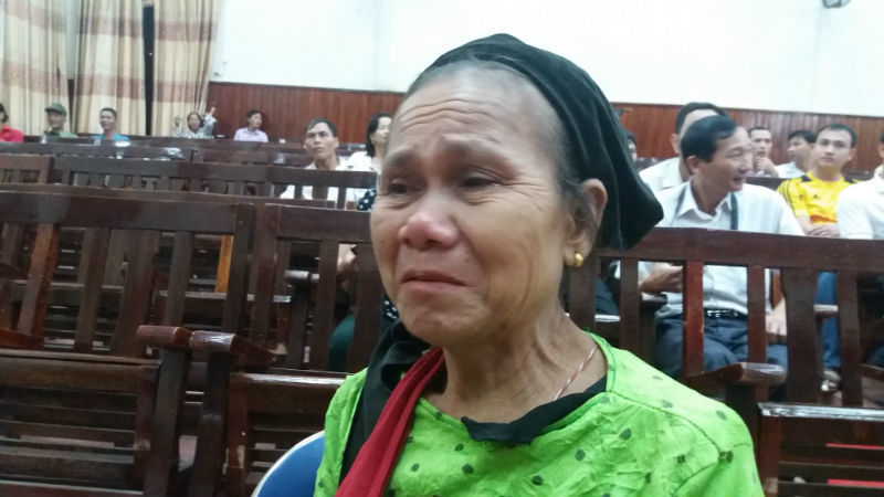 Bà Lê Thị Thanh, mẹ nạn nhân Lê Thị Yến (vợ anh Thọ)