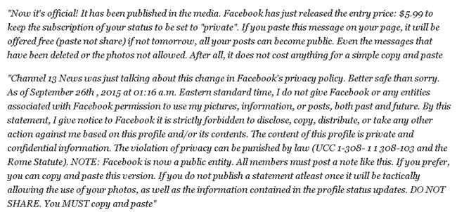 Facebook rộ trò lừa dọa 'thu phí người dùng'