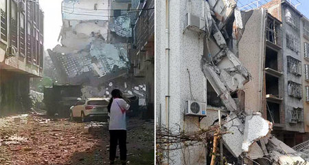 Clip: Xe nát, nhà sập trong vụ đánh bom ở TQ
