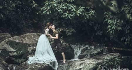 """Độc đáo bộ ảnh cưới theo phong cách """"Tarzan & Jane"""" của cặp đôi Hà Thành"""