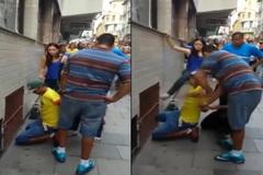 Người phụ nữ tung cú đá vào mặt tên cướp