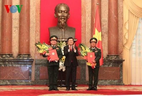 Chủ tịch nước thăng hàm Đại tướng cho 2 lãnh đạo quốc phòng