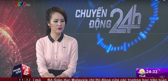 Á hậu Thụy Vân xin lỗi vì tỏ thái độ trên sóng trực tiếp