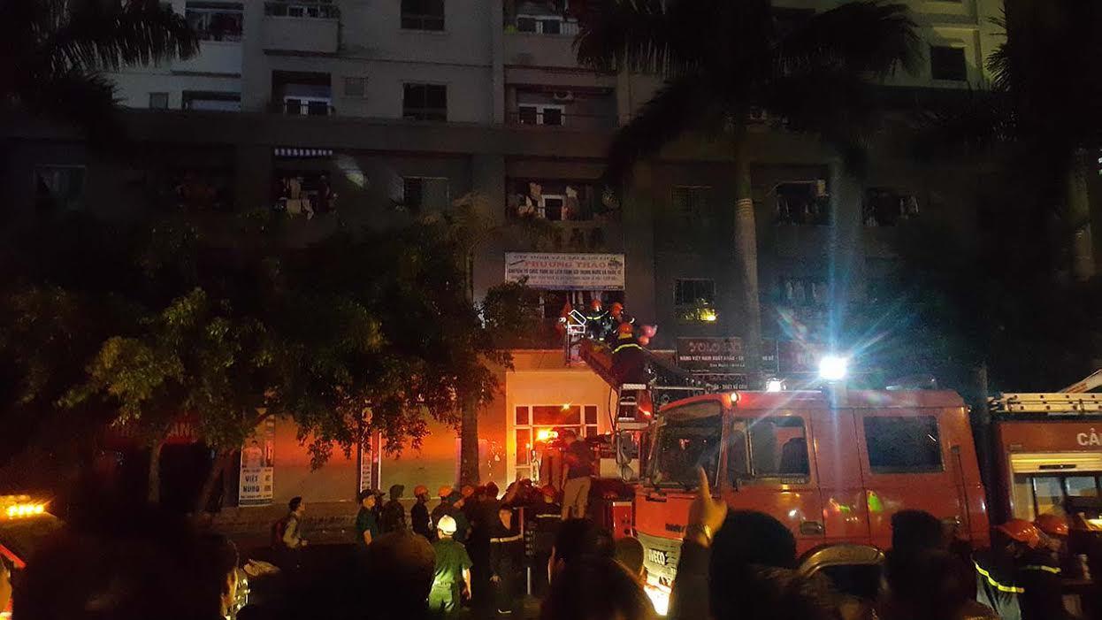 chung cư, cháy, Xa La