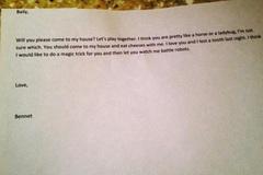 Bức thư tình đáng yêu của bé 4 tuổi mắc ung thư
