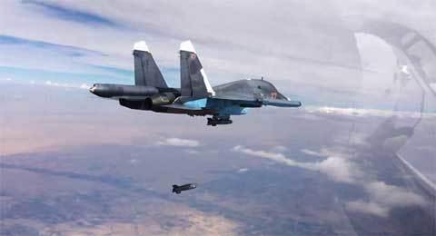 Máy bay Mỹ phải nhường đường cho chiến cơ Nga