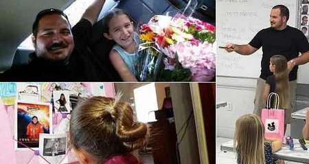 Ông bố đơn thân mở lớp tết tóc cho con gái