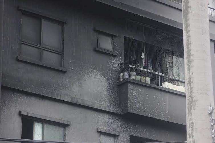 cháy, chung cư, hoảng loạn, Xa La