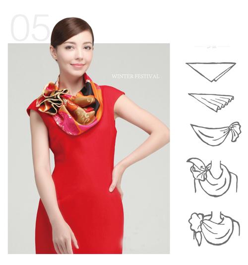 thắt khăn, công sở, thời trang, phối đồ