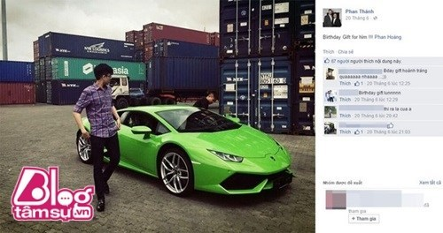 Đại gia Phan Thành tặng siêu xe triệu USD cho em trai