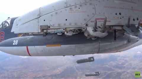 Xem Su-30, Su-25 dội bom xuống Syria