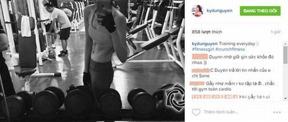 Hoa hậu Kỳ Duyên lộ thân hình kém săn chắc và vòng eo ngấn mỡ