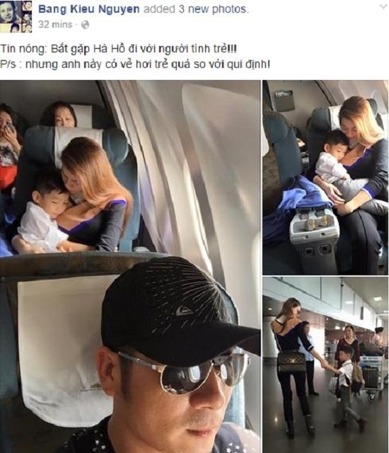 Bằng Kiều bắt gặp Hà Hồ đi với 'người tình trẻ'