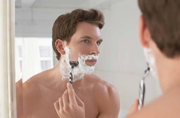 đàn ông, cạo râu, nam giới