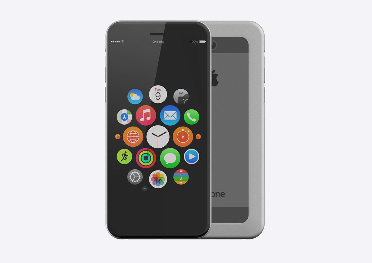 Thiết kế iPhone 7 màn hình tràn cạnh đẹp lung linh