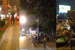 """Hàng trà đá """"dị"""" bán giữa đường tại Hà Nội"""