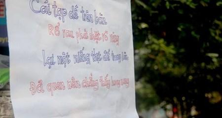 Dàn trai trẻ nhặt rau miễn phí khuấy đảo chợ Hà Nội