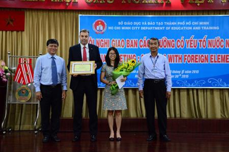 BVIS nhận giải 'Công dân toàn cầu -Bản sắc Việt Nam'