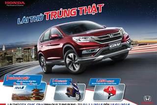 Cơ hội 'lái thử, trúng thật' với bộ 3 ô tô Honda