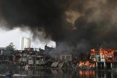 Philippines: Cháy khu chợ, 15 người thiệt mạng