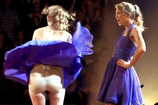 Ca sĩ nôn ọe, tốc váy lộ nội y trên sân khấu