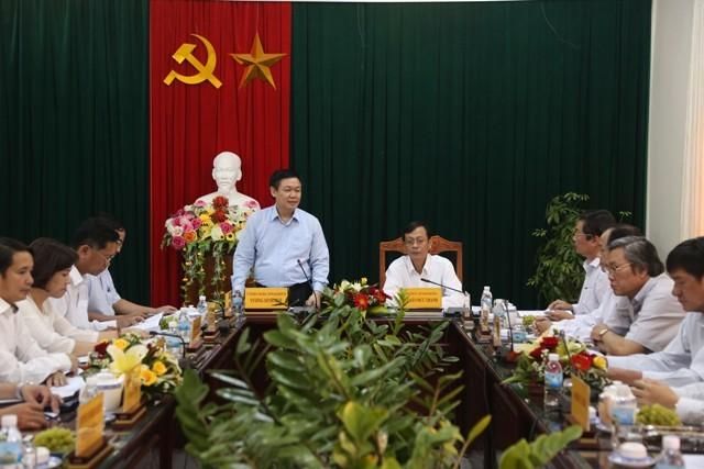 Trưởng Ban Kinh tế T.Ư làm việc với Tỉnh ủy Ninh Thuận