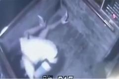Cô gái bị cưỡng hôn trong thang máy