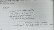 """Băn khoăn bản dịch """"Sông núi nước Nam"""" trong SGK"""
