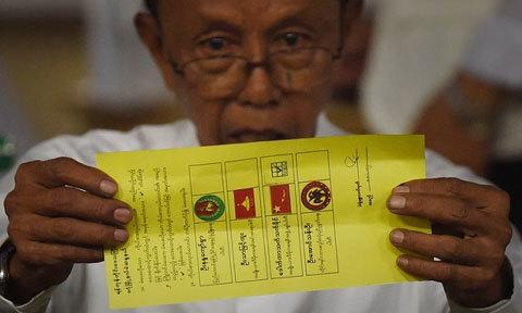 Myanmar, bầu cử, tổng tuyển cử, đảng đối lập, Aung San Suu Kyi, chiến thắng, vòng đầu