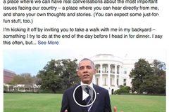 Obama viết gì trên trang Facebook mới mở?