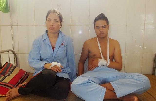 con gai Doi pho CSCD, chem nguoi, nhom thanh nien, thac Voi, Thanh Hoa