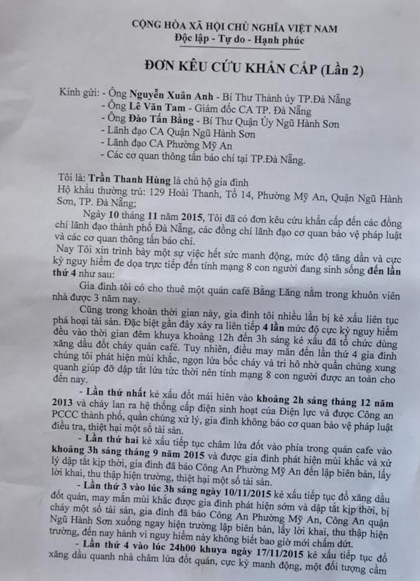 Cầu cứu Bí thư Xuân Anh vì bị kẻ gian đốt nhà 4 lần