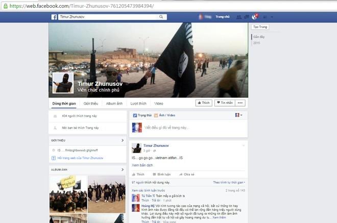 Cảnh sát mạng truy người kích động khủng bố trên Facebook