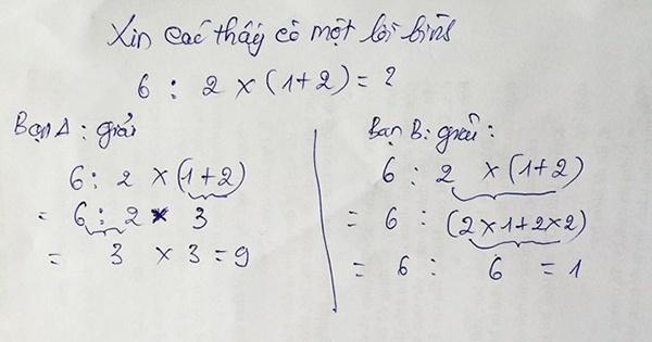 Tranh cãi gay gắt bài toán lớp 2 hai đáp số