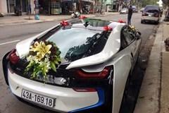 Đại gia Đà Nẵng dùng siêu xe BMW i8 đón dâu