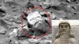 Phát hiện khối đá hình mặt tượng thần trên sao Hỏa