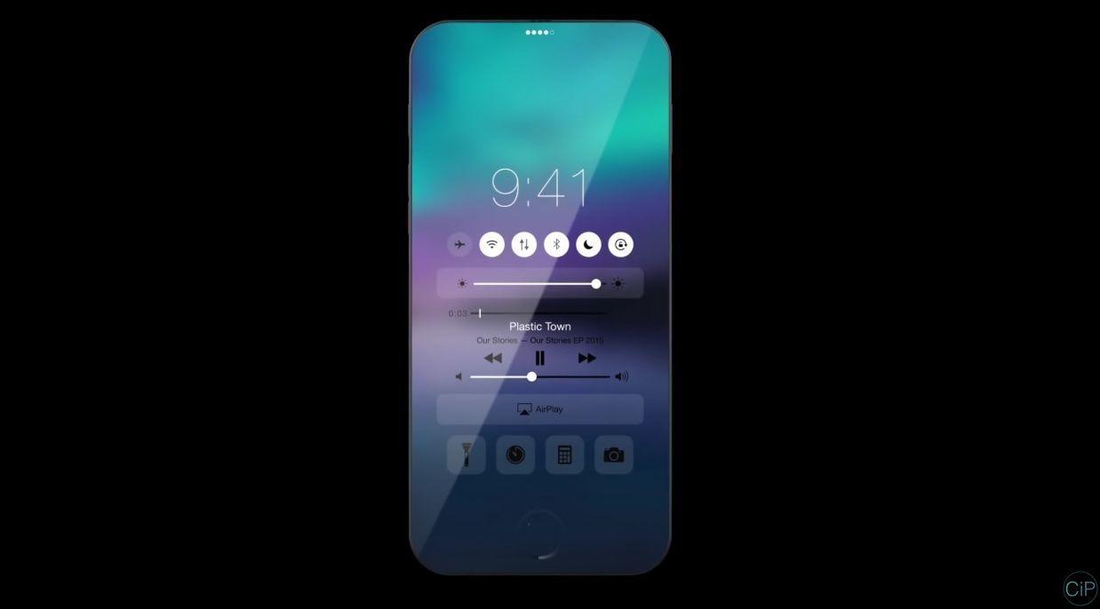 iPhone 7 không viền màn hình, chạy iOS 10 đẹp mê hồn