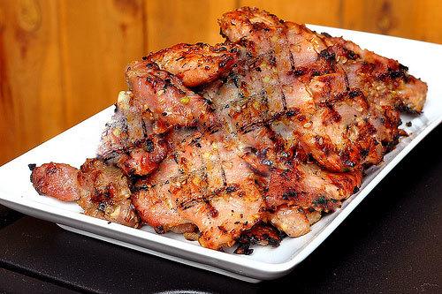 nguyên liệu sẵn có, ướp thịt, bún thịt nướng, Cách làm