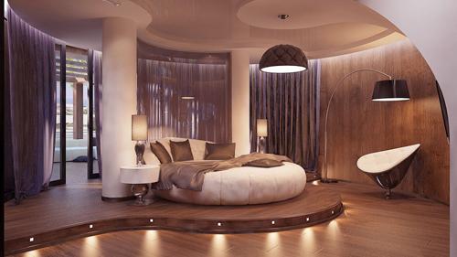 tư vấn thiết kế phòng ngủ, mẫu phòng ngủ đẹp, sắc nâu trầm trong phòng ngủ