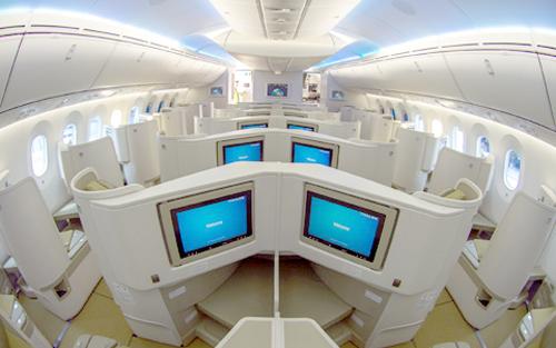 tau bay, khach san bay, boeing 787-9, Vietnam Airlines, thương gia,