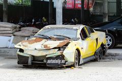 'Siêu xe' Lamborghini tự chế của thợ Việt thành đống sắt vụn