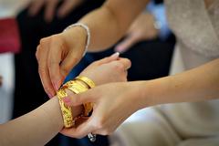 """Bức xúc vì bố mẹ chồng """"chất vàng"""" lên người con gái trong ngày cưới"""