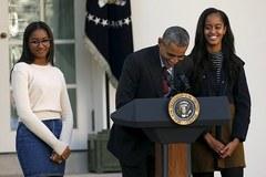 Hình ảnh lạ lẫm của tiểu thư út nhà Obama