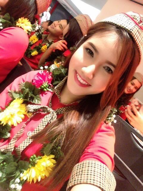 Cận cảnh nhan sắc, nữ tiếp viên, chụp lén, Thái Lan; VietJet;