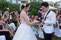 Đám cưới hoa hậu Diễm Hương gặp trời mưa