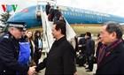 Hình ảnh Thủ tướng Nguyễn Tấn Dũng tới Paris