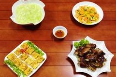 Bữa cơm chiều dân dã mà ngon